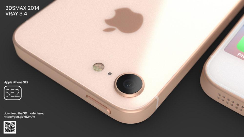 iPhone SE 2 Concept Camera 1000x563 Un concept iPhone SE 2 plutôt réaliste ressemblant à liPhone 8