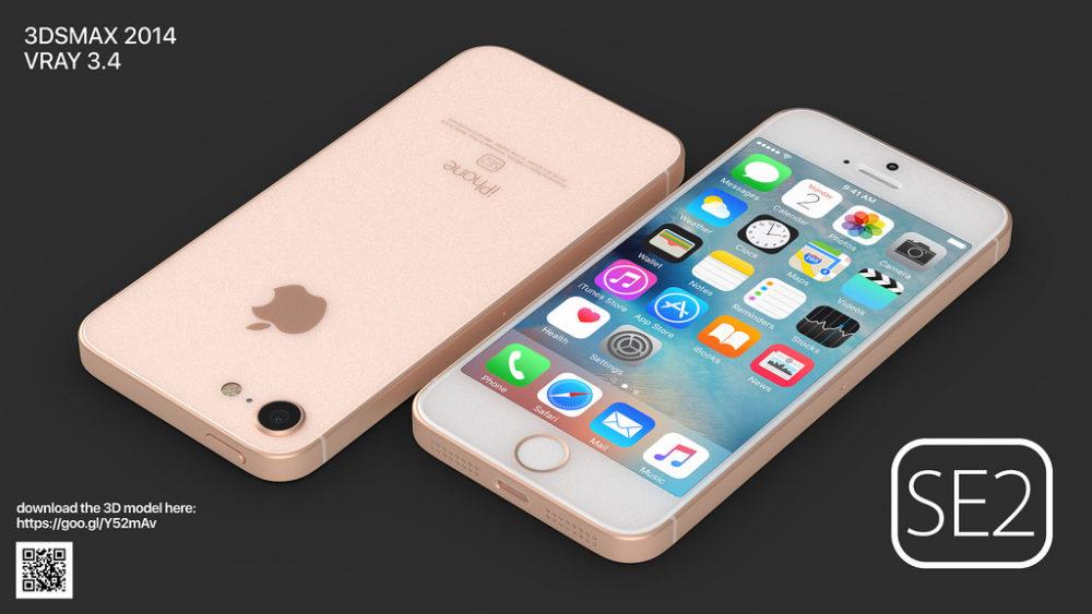 iPhone SE 2 Concept Dos Face 1000x563 Un concept iPhone SE 2 plutôt réaliste ressemblant à liPhone 8
