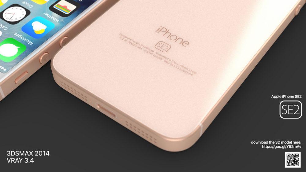 iPhone SE 2 Concept Dos Partie Inferieure 1000x563 Un concept iPhone SE 2 plutôt réaliste ressemblant à liPhone 8