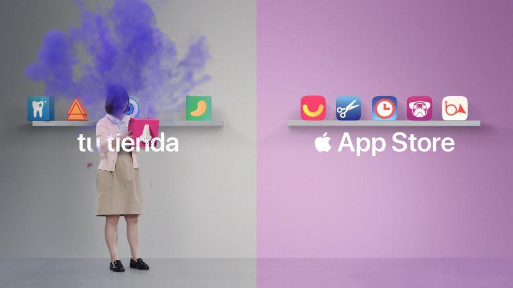 App Store Pub Apple 1000x563 Apple publie 2 nouvelles pubs pour vanter lApp Store et le Mode Portrait