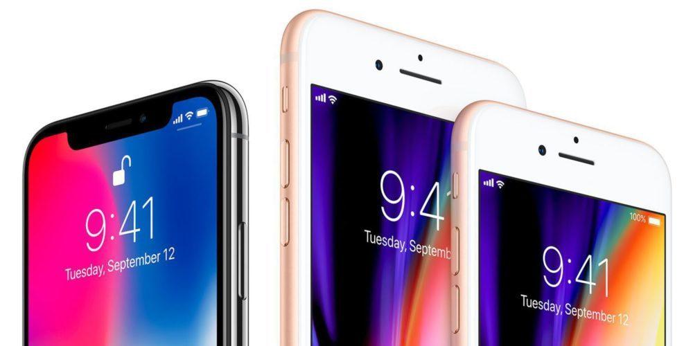 Apple iPhone 8 iPhone 8 Plus iPhone X 1000x500 Apple ne pourra pas totalement se passer de Qualcomm pour le modem des iPhone de 2018