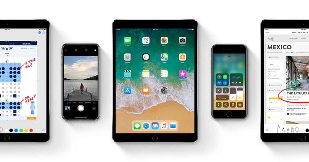 iOS 11 Apple iPhone iPad 1000x525 iOS 11 est désormais installé sur 76% des appareils iOS en circulation