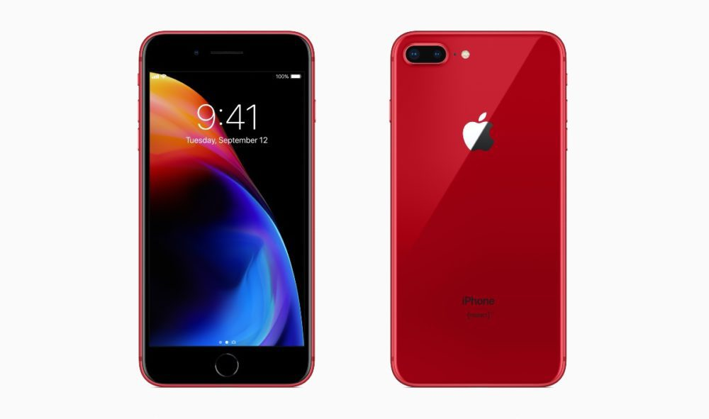 iPhone 8 8 Plus PRODUCT RED 1000x591 Les iPhone 8 et iPhone 8 Plus rouges sont disponibles à l'achat