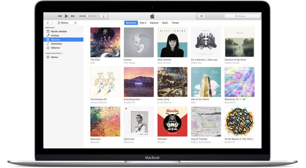 iTunes MacBook 1000x550 iTunes 12.6.4 est disponible au téléchargement avec le support de lApp Store