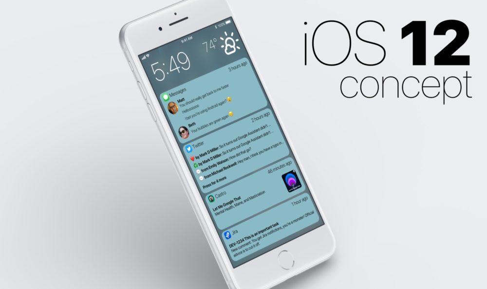 Concept iOS 12 Centre Notifications 1 1000x594 Un concept iOS 12 imagine un nouveau Centre de notifications