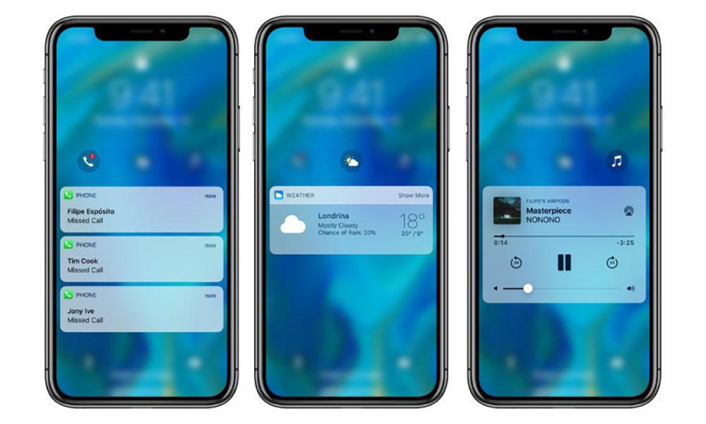 Concept iOS 12 iPhone X 1000x600 Un concept iOS 12 met en avant un nouveau écran de verrouillage et plus encore