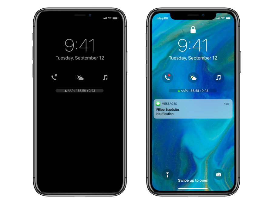 Concept iOS 12 iPhone X Always On 2 Un concept iOS 12 met en avant un nouveau écran de verrouillage et plus encore