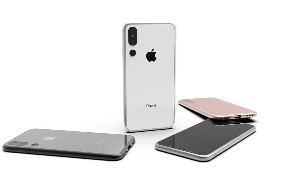 Concept iPhone 2018 3 Couleur 1000x568 Un concept de liPhone de 2018 avec 3 capteurs photos et de nouvelles couleurs