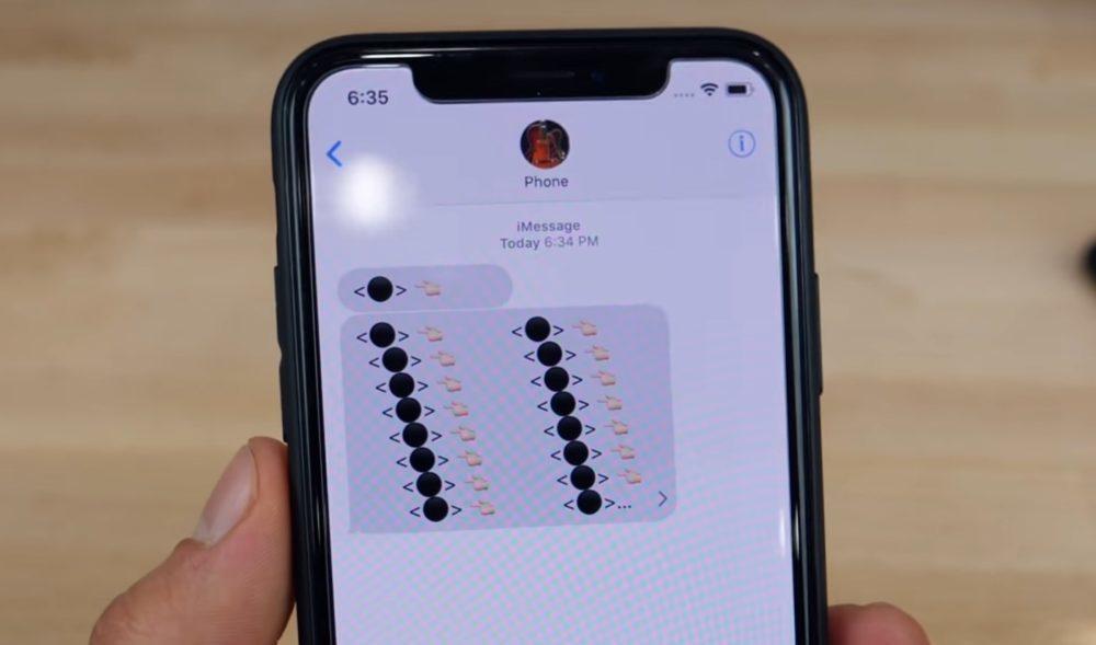 iPhone Bug Emoji Boule Noire 1000x589 LEmoji boule noire peut faire planter lapplication Messages sur iPhone