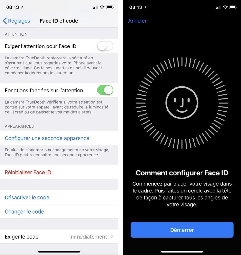 2 Visages Face ID iOS 12 1000x1059 iOS 12 offre la possibilité denregistrer 2 visages distincts sur Face ID