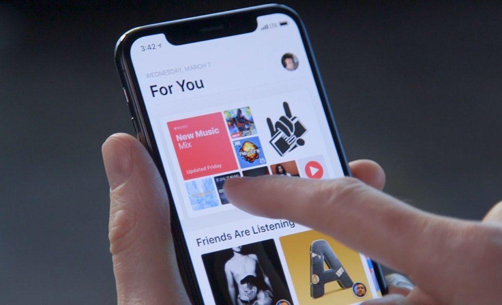 Apple Music iPhone X 1000x608 Apple pourrait regrouper Apple Music, ses séries et l'actualité en 1 seul abonnement