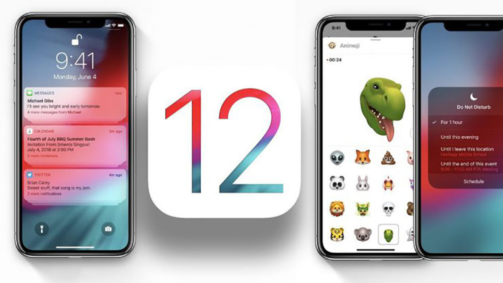 Apple iOS 12 Logo 1000x563 Selon Apple, 60% des iPhone, iPad et iPod touch tournent sous iOS 12