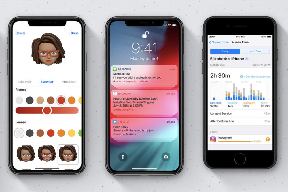 iOS 12 Nouveautes 1000x667 Il est désormais impossible de mettre à jour un iPhone/iPad vers iOS 12.1.3