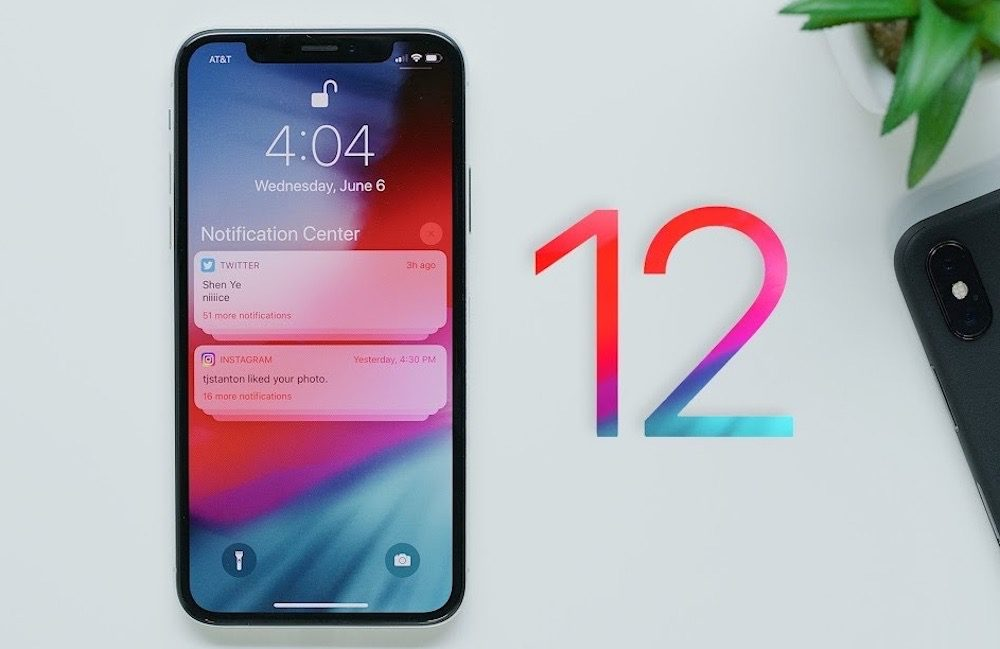 iOS 12 iPhone X Ecran Verouille Notifications 1000x649 Apple rend disponible la version finale d'iOS 12.1.3