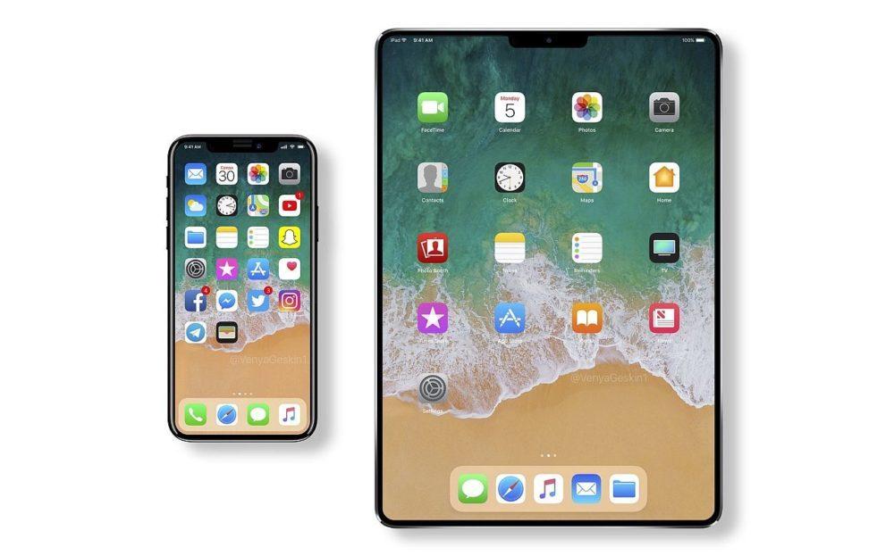 iPad Face ID iPhone X 1000x623 Apple prépare le chemin pour un iPad avec Face ID et écran bord à bord ?