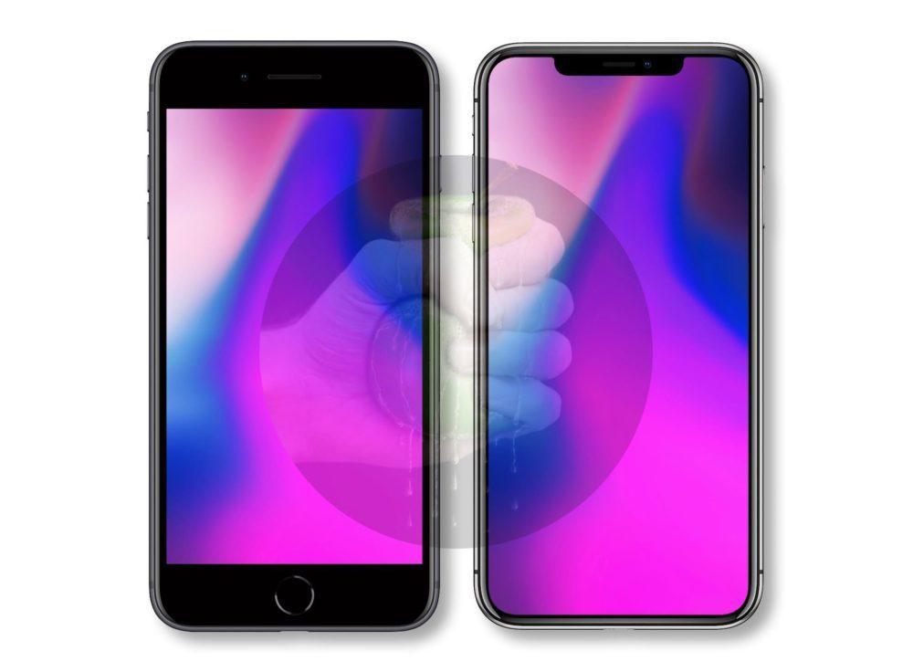 iPhone X Plus VS iPhone 8 Plus 1000x736 Voici à quoi pourrait ressembler l'iPhone LCD de 6,1 pouces (l'iPhone 9)