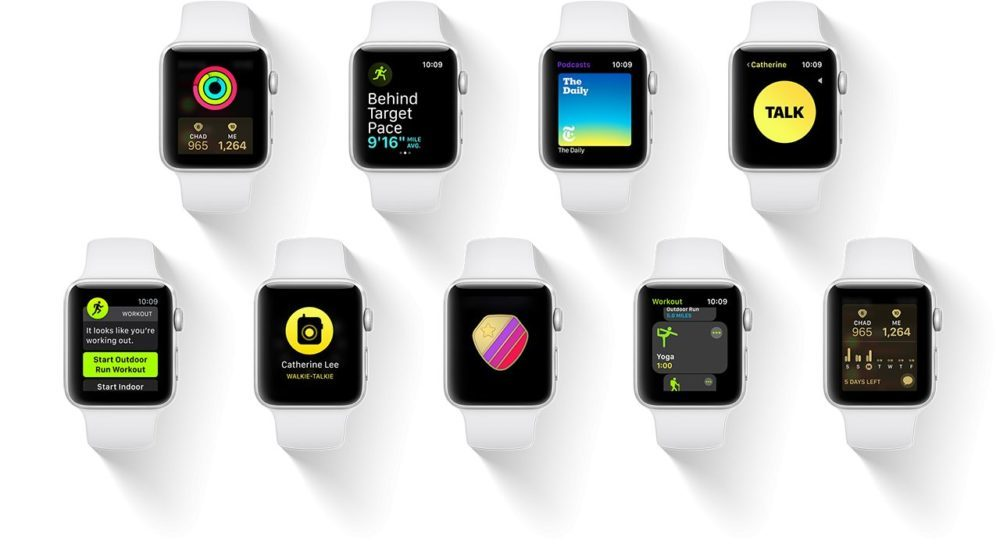watchOS 5 Apple Watch 1000x545 Les modèles d'Apple Watch compatibles avec watchOS 5