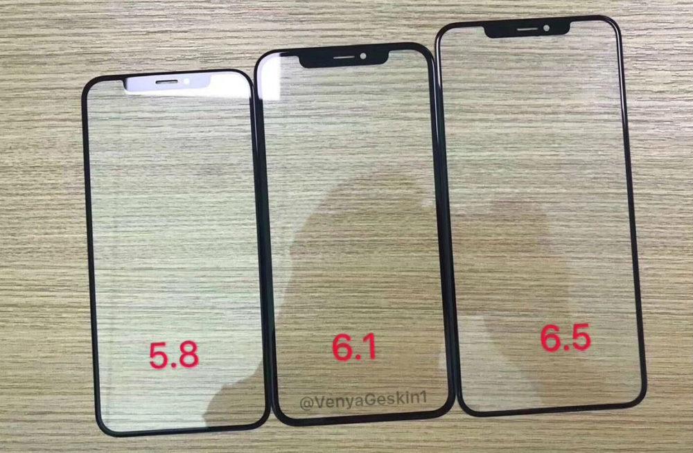 2018 iPhone Front Panels 1000x654 iPhone de 2018 : des photos dévoilent la façade avant des différents modèles