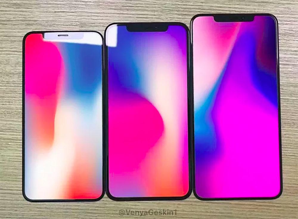 2018 iPhone Front Panels 2 1000x734 iPhone de 2018 : des photos dévoilent la façade avant des différents modèles