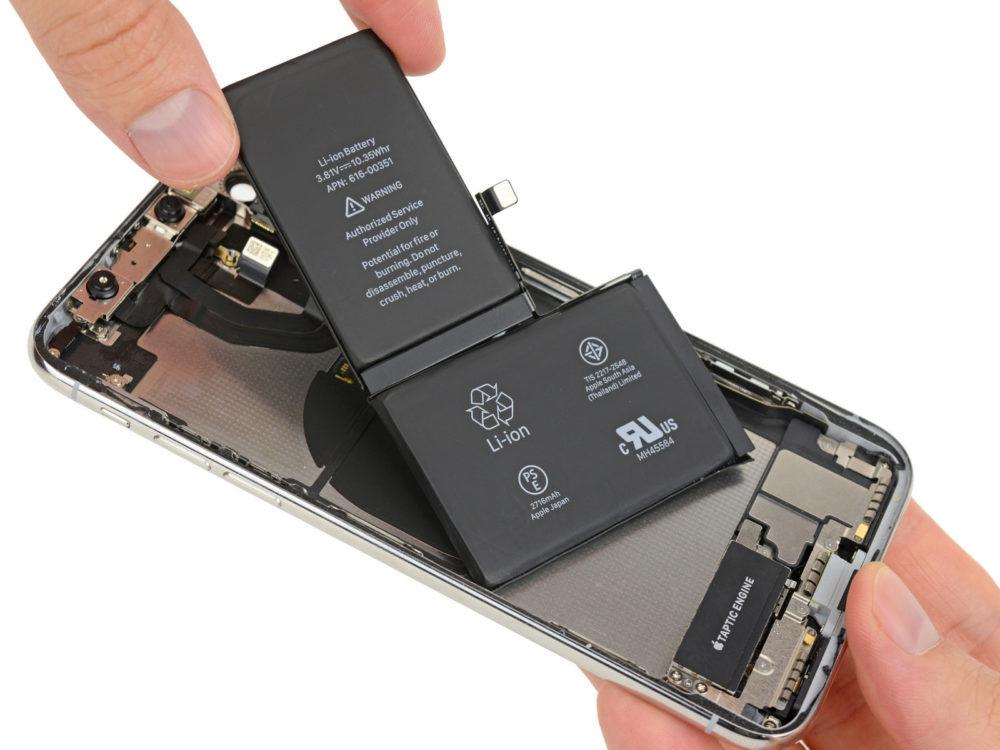 Batterie L iPhone X 1000x750 Apple augmente le coût de remplacement la batterie de liPhone