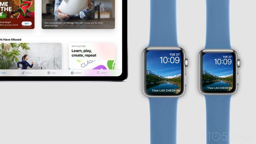 Concept iPad Pro Face ID Apple Watch Series 4 1000x563 Voici à quoi pourraient ressembler l'iPad Pro Face ID et l'Apple Watch Series 4