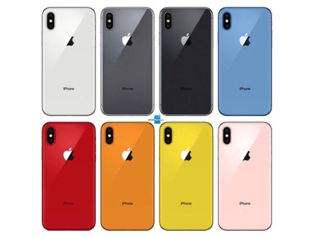 Concept iPhone de 2018 Coloris 1000x762 Concept : voici les supposées couleurs des prochains iPhone de 2018