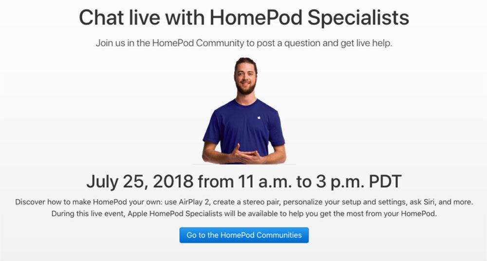HomePod Chat Live 1000x536 HomePod : les réponses à toutes vos questions dans un chat en ligne
