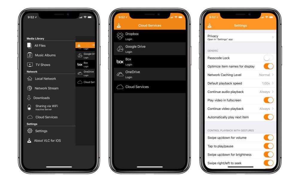 VLC iPhone X 1000x609 VLC sur iOS se met à jour et supporte Chromecast et les vidéos à 360 degrés