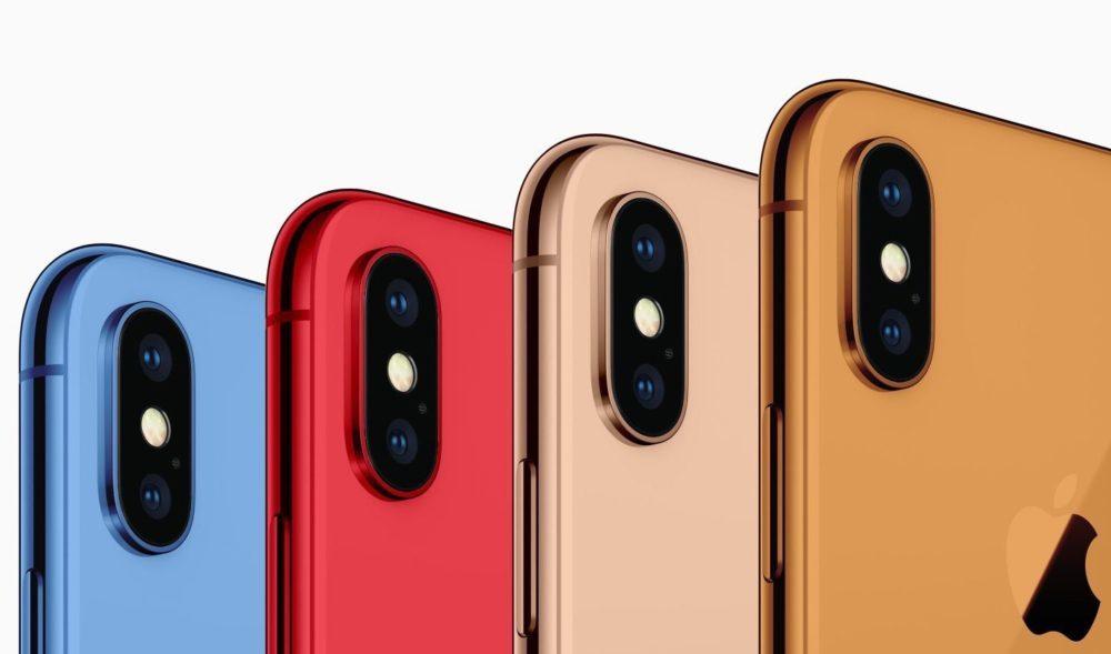 iPhone 2018 Coloris 1000x589 iPhone de 2018 : le modèle LCD de 6,1 pouces ne serait pas disponible en rouge
