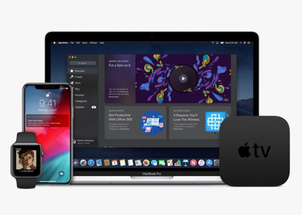 Apple Watch iPhone X MacBook Pro Apple TV 1000x712 Apple annonce ses résultats financiers pour le Q1 2019 : baisse pour l'iPhone