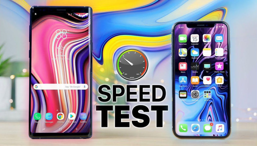 Galaxy Note 9 vs iPhone X Test 1000x570 Vidéo : l'iPhone X dépasse le Galaxy Note 9 en terme de rapidité