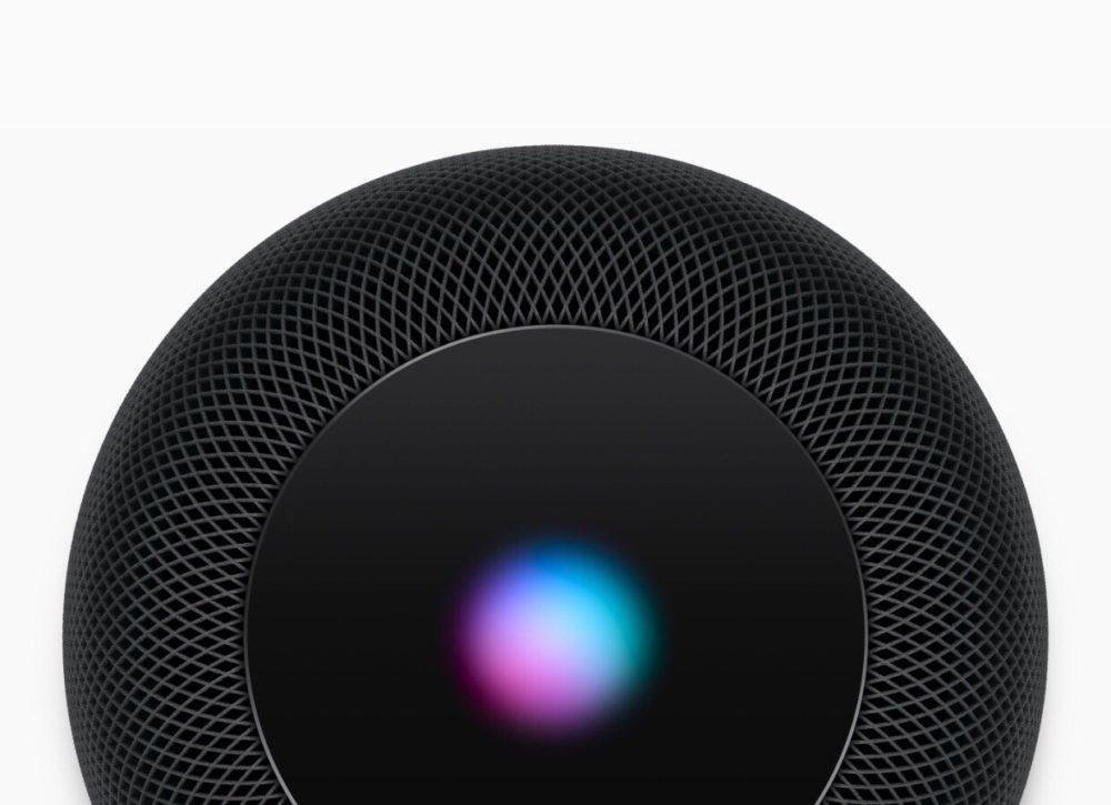 HomePod Noir Siri 1000x725 Le HomePod a reçu une mise à jour : Handoff, reconnaissance de la voix mais pas en France