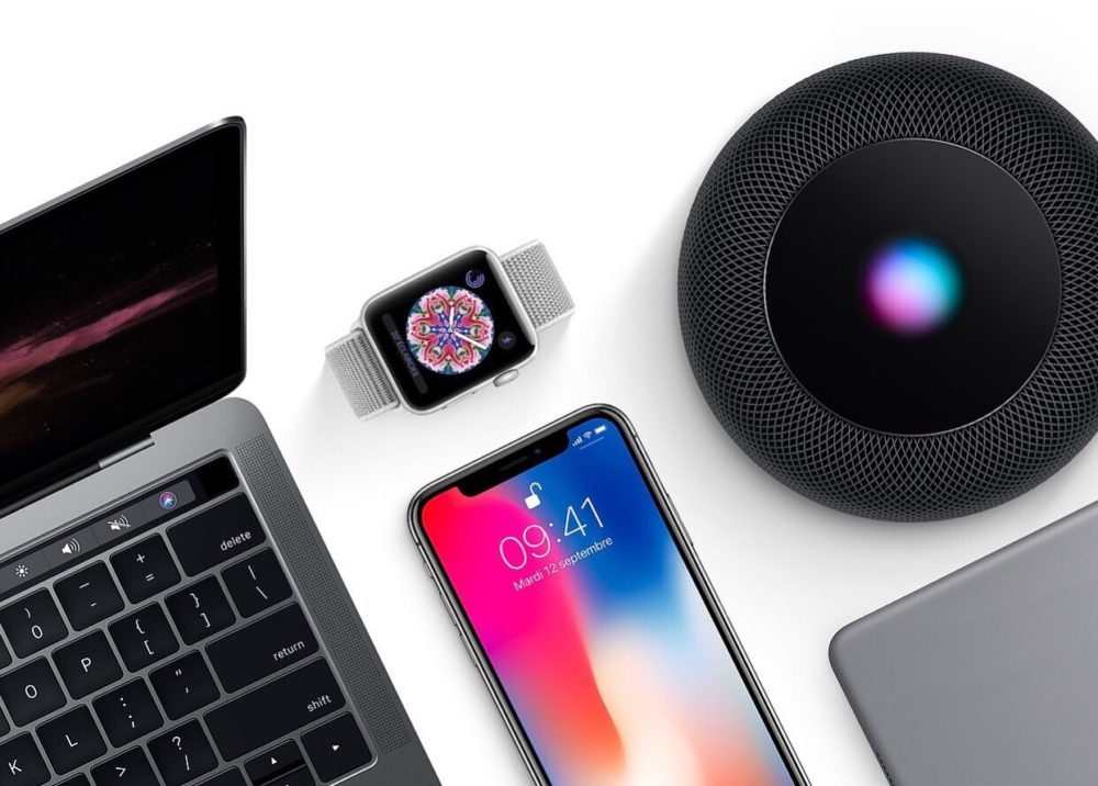 Mac iPhone X Apple Watch HomePod iPad 1000x716 Les résultats financiers d'Apple pour le Q4 2018 sont dévoilés : baisse pour l'iPad et pour le Mac