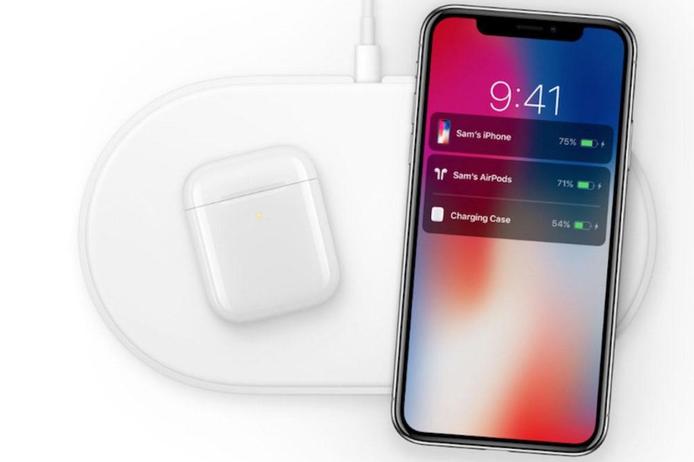 airpower airpods iphone x 1000x666 La recharge sans fil serait plus rapide sur les iPhone de 2018
