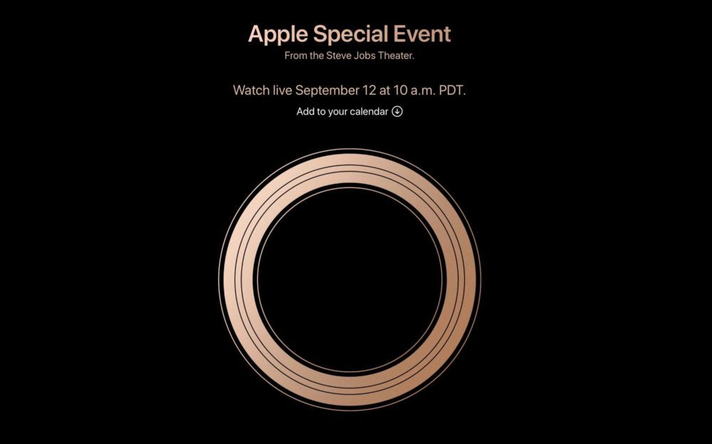 apple 12 septembre 2018 1000x624 Apple annonce que la keynote du 12 septembre sera diffusée en direct sur Twitter