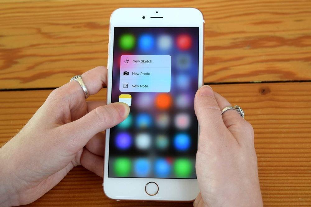 apple iphone 3d touch notes 1000x667 Vers labandon du 3D Touch sur les iPhone de 2019 ?