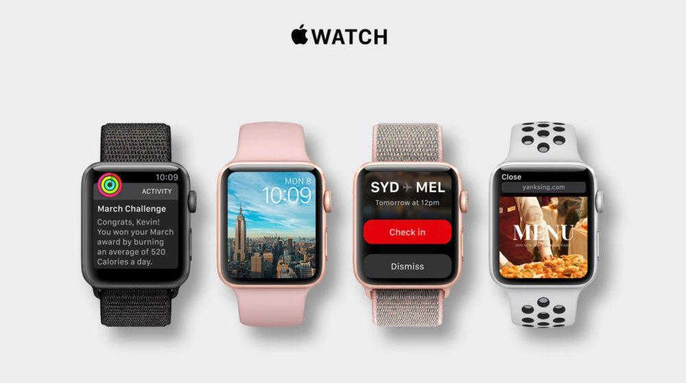 apple watch series 4 concept 1000x559 Apple pourrait proposer 6 nouveaux Apple Watch cette année