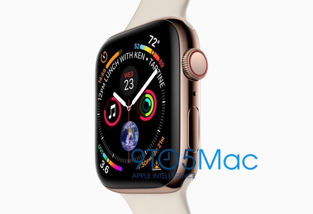 apple watch series 4 design 9to5mac 1000x685 Les iPhone XS 5,8 et 6,5 pouces, le design de lApple Watch Series 4 dévoilés, la faute à Apple