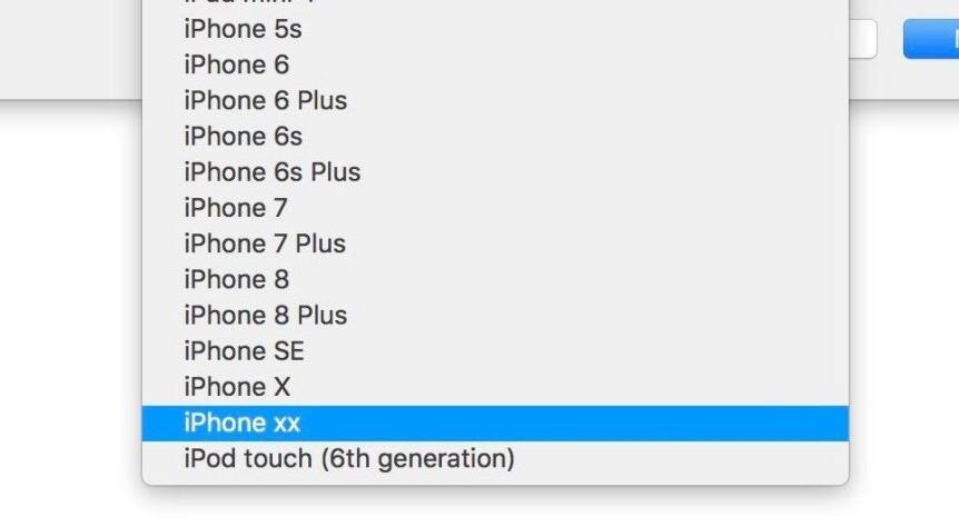 """iPhone xx Xcode 10 Info Une référence """"iPhone xx"""" et quelques détails retrouvés dans Xcode 10"""