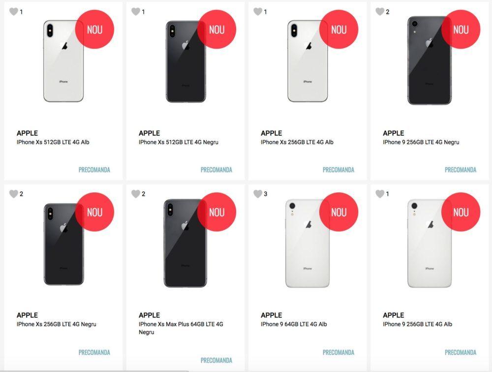 Nouveaux iPhone 2018 Precommande Revendeur Roumain 1000x756 LiPhone 9, Xs Max et l'iPhone Xs déjà en précommande chez un revendeur roumain