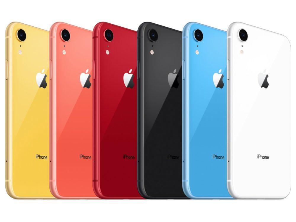 iPhone XR Six Couleurs 1000x750 Chine : les ventes de liPhone XR seraient beaucoup plus élevées que celles de liPhone 8