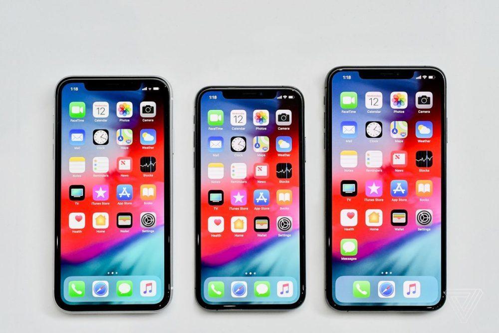iPhone XR iPhone XS iPhone XS Max 1000x667 iPhone XS, XS Max et XR : les détails sur la RAM et la capacité des batteries sont connus