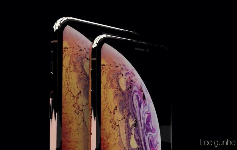 iPhone XS Concept 1000x632 iPhone XS : un concept vidéo laisse voir les deux modèles en couleur Or