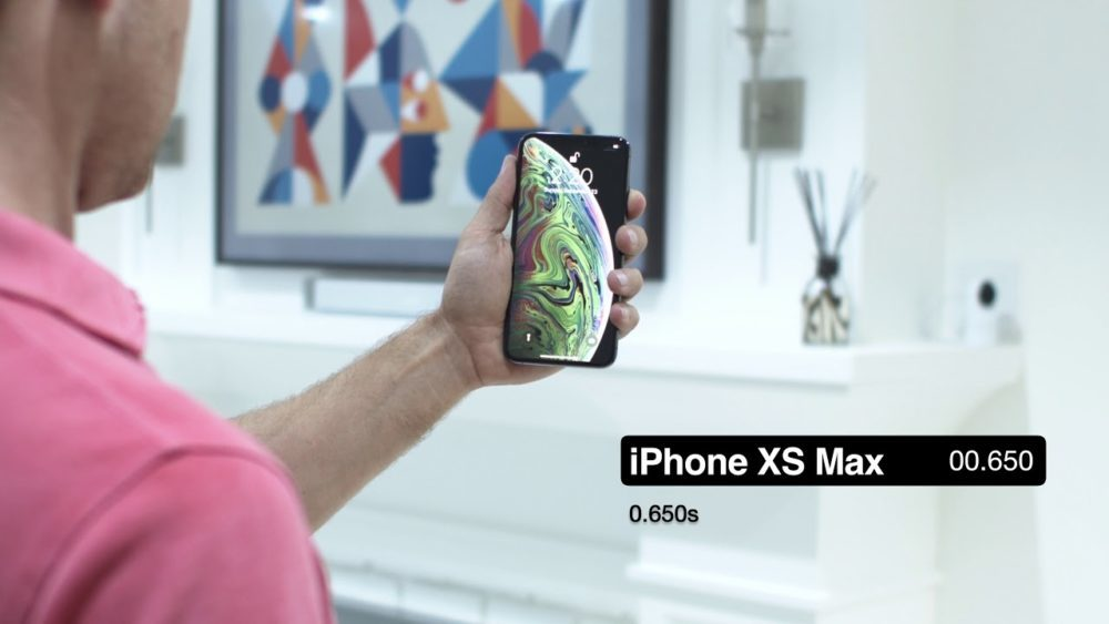 iPhone XS VS iPhone X Test Face ID 1000x563 Face ID de liPhone XS, XS Max vs Face ID de liPhone X, lequel est le plus rapide ?