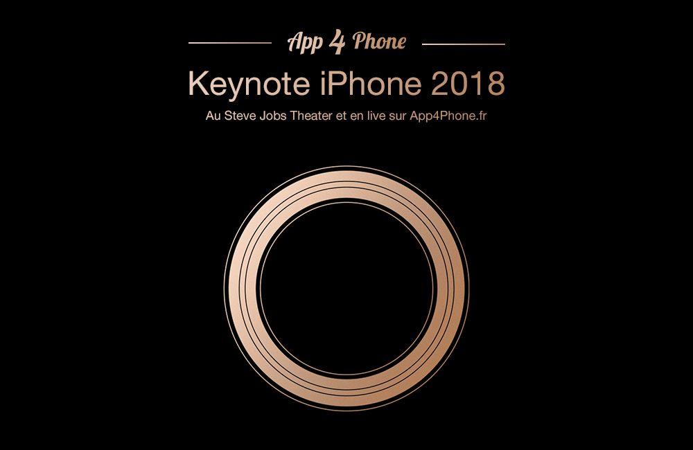 keynote app4phone iphone 2018 Le Live Keynote iPhone Xs/Xr d'App4Phone à suivre dès 18h30