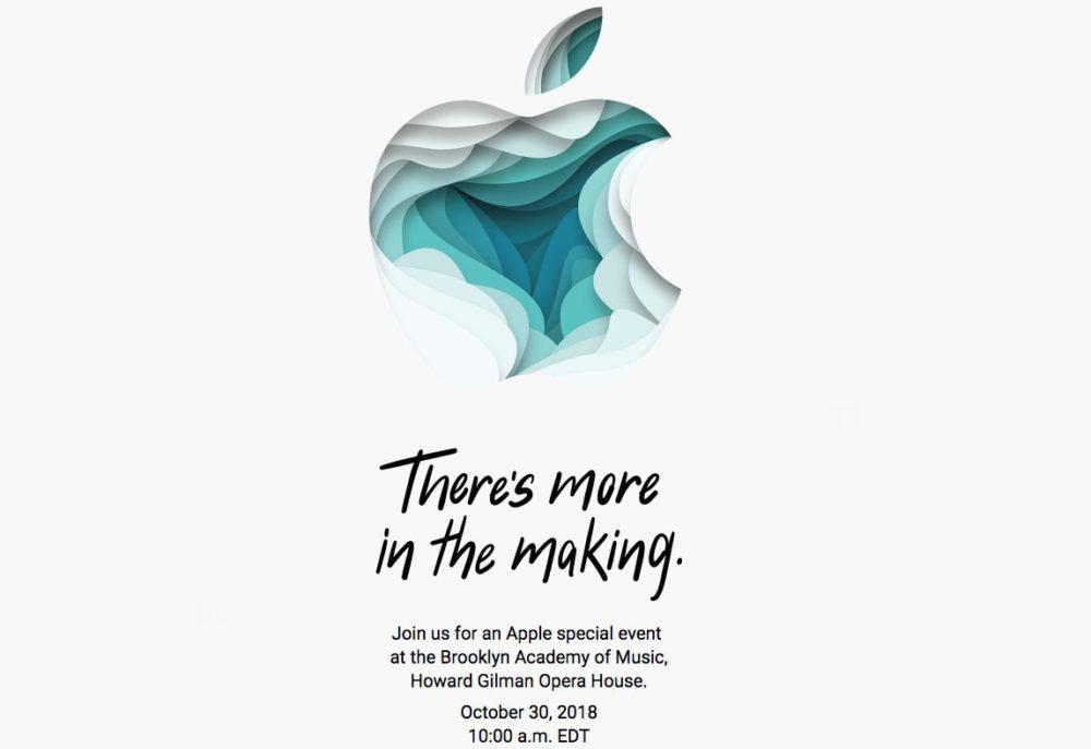 Apple Keynote Octobre 2018 1000x687 Apple annonce une keynote pour mardi 30 octobre prochain : nouveaux Mac et iPad