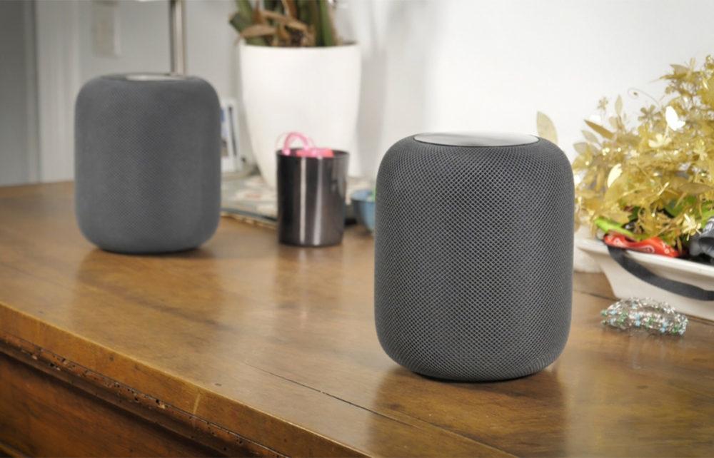 Deux HomePod Apple Noir 1000x642 Apple vend désormais des HomePod reconditionnés aux États Unis