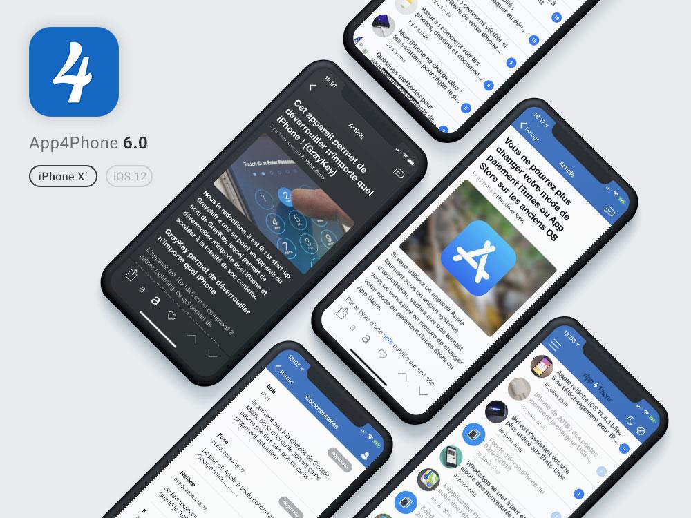 app4phone article cover App4Phone.fr 6.0 est disponible : compatible iOS 12, nouveau design et plus
