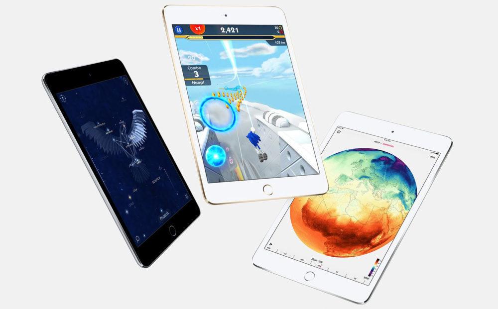apple ipad mini 4 1000x621 iPad de 2019 : un nouvel iPad de 10 pouces et un iPad mini « à bas prix »