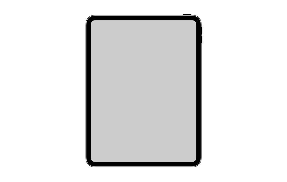 design ipad pro 2018 1000x634 iOS 12.1 nous laisse voir le design du nouvel iPad Pro de 2018